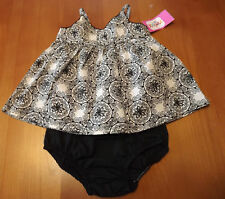 INFANT GIRLS 2PC SLEEVELESS BABY DOLL STYLE SUNDRESS WITH DIAPER COVER  NWT
