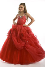 Perfect Angels 1406 Red Stunning Girls Pageant Gown