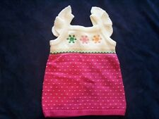 NWT Girl's Gymboree Cheery All The Way sleeveless sweater dress 3-6 months 3 3T