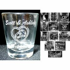 Personalized Shot Glasses Custom Wedding Party Groomsmen Bridemaids Gifts Table
