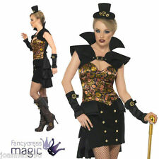 LADIES SEXY STEAMPUNK VICTORIAN VAMPIRE VAMPIRESS HALLOWEEN FANCY DRESS COSTUME