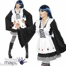LADIES SEXY GOTHIC ALICE IN WONDERLAND TOKYO DOLLS HALLOWEEN FANCY DRESS COSTUME