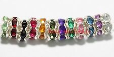 100pcs Rondelle Acrylic 14 Colors Spacer Beads Charm Crystal Rhinestone 6mm