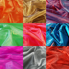TWO TONE SATIN ORGANZA FABRIC Sheer Voile per 1m METRE for Curtain & Wedding
