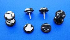 "Hottest Black & White Or W/B  Marble Looking Fake Plugs( ""0"" gauge Style )"