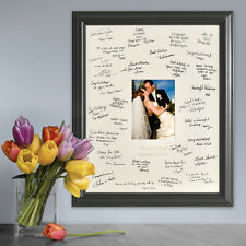 WEDDING SIGNATURE FRAME - BEAUTIFULLY PERSONALIZED! GUEST BOOK - FREE SHIPPING!