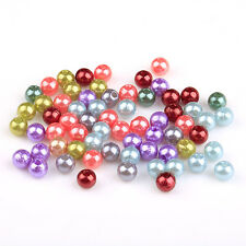 300pcs 6mm Mixed color Round Acrylic Spacer Loose Beads for Jewelry DIY