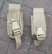 BRITISH ARMY SURPLUS DESERT TAN OSPREY SOLO ARMOUR VEST SMOKE GREN. MOLLE POUCH
