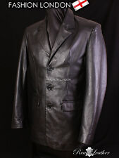 BLAZER Black Men's Classic Lambskin Simple Single Breasted Casual Leather Jacket