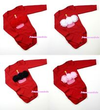 Infant Baby Various Rose Red Long Sleeve Jumpsuit Light Pink Cupcake NB-12Month