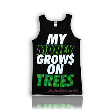 "Men Funny Tank Top ""My money grows on trees"" Tanktop Fast USA Shipping"