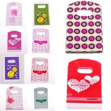 New Arrival 50pcs red/pink/green heart/smile plastic jewelry gift bags package