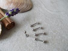 CHOSE LENGTH & THICKNES 1.2MM,1.6MM ,5 SURGICAL STEEL LABRET BARS,6,8,10,12,14MM