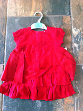 NEW BABY GIRLS PRETTY RED PARTY DRESS AGE 6-9,9-12-12-18 MONTHS IDEAL FOR XMAS