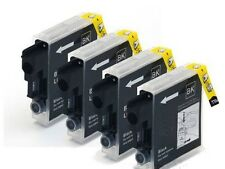 4 x Black Inkjet Cartridges Non-OEM Alternative For Brother LC1240, LC1240Bk