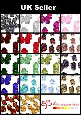 200 x 4mm / 100 x 6mm / 50 x 8mm Crystal Glass Bicone Beads  - Various Colour