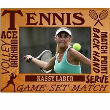 Personalized Boys Girls Tennis Engraved Picture Frames 4x6 5x7 8x10 Team Photo