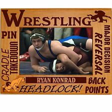 Personalized Wrestling Engraved Picture Frames 4x6 5x7 8x10 Custom Youth Team