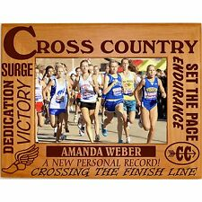 Personalized Boys Girls Cross Country Engraved Picture Frames 4x6 5x7 8x10 Team