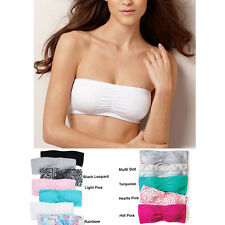 New FASHION FORMS Cotton Removable Pad NoWire Bandeau Top S-XL BUY 1,GET 1 FREE!
