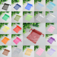 25/50/100 PCS Organza Jewelry Gift Pouch Bags Wedding Xmas Favors 22 Colors