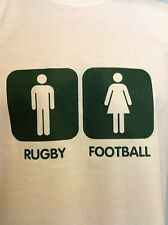 RUGBY for MEN, FOOTBALL for GIRLS,  funny Sports T-Shirt,  Men Ladies