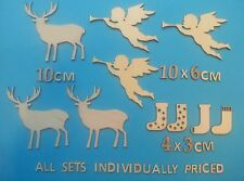 3 STAG Wooden Laser Cut Shapes Others Available CHRISTMAS , hearts, patterns etc