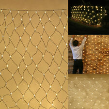 Outdoor Net Light, Green & White Cable, Up to 320 Bulbs (non LED), 2 Size Choice
