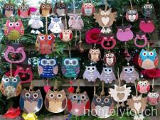 homelytouch New Hanging Owl Heart Decoration A Choice Of 39 Owls Home Decoration