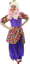PANTOMIME DAME/UGLY SISTER FANCY DRESS PURPLE COSTUME PLUS SIZES L-XXXXL