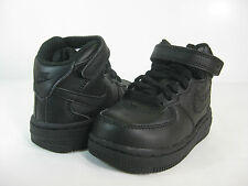 NIKE FORCE 1 MID (TD) Black/Black -314197 004- TODDLERS ATHLETIC