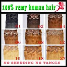 """Indian Remy 20"""" 8pcs&100g human hair clip in extensions with lace line,10 colors"""