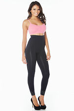 "Rhonda Shear ""Rocker"" High Waist Studded Leggings Style R1390"