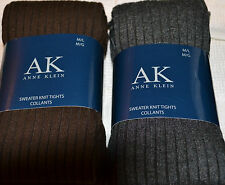 Anne Klein Sweater Knit Tights Brown or Grey size Medium/ Large Collants Warm