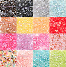 2000pcs Multi Colors Pearl Flat Back Acrylic Beads for Nail Art Phone case