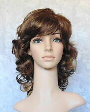 Long Layered Curly Brown, Blonde Full Synthetic Wig Wigs - #359