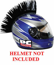 Helmet Black Mohawks PC Racing All Colors Interchangable Mohawk