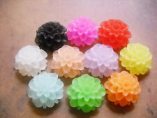 Resin Flower Cabochons Flower Flat Backs 20mm Cabochons Assorted Cabochons 25/50