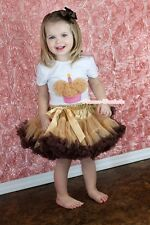 Pageant Golden Brown Pettiskirt Tutu White Pettitop Goldenrod Cupcake Set 1-8Y