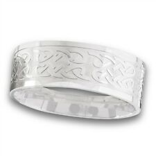 Stainless Steel Ring Celtic Knot Pattern Size 8-15