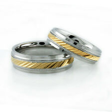 His & Hers Wedding Rings (Set $48) Stainless Steel--Personalized & Engraved Free