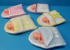 12th scale dolls house handmade babies in cosy toes for pram/buggy  5 colours