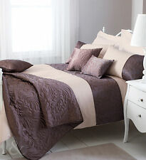 LUXURY BROWN CREAM Duvet Cover Poly Cotton Bedding Bed Linen QUILT COVER SET