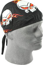 Zan HeadGear Flydanna Burning Skull Headwrap Bandanna Off road Racing Downhill
