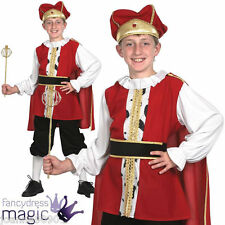 CHILDS BOYS MEDIEVAL TUDOR KING FANCY DRESS COSTUME BOOK WEEK CHRISTMAS NATIVITY