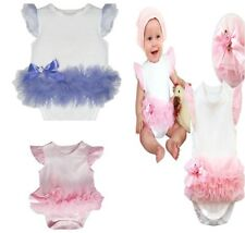 New Baby Girls Ruffles One Piece Romper Jumpsuit Clothes Size 00,0,1,2