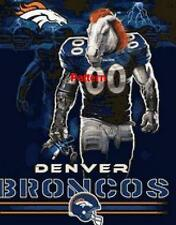 Denver Broncos Mascot, Helmet etc. Cross Stitch Pattern. Free shipping.