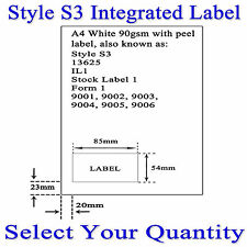 A4 INTEGRATED ADDRESS LABELS STYLE C - S3 - IL1 - 13625 - STOCK LABEL 1 - 9001