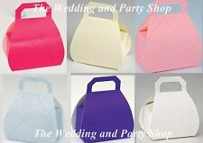 HANDBAG SHAPED WEDDING PARTY FAVOUR BOXES ALL COLOURS & STYLES