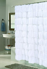 Carmen™ Ruffled Fabric Shower Curtain By Carnation Home Fashions®